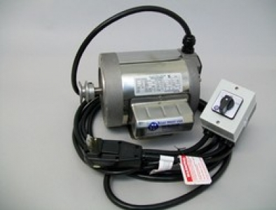 3/4 hp Leeson Stainless Steel Motor, maintain switch/16ft cable/in-plug 110 GFCI