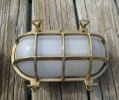 Brass Oval Light