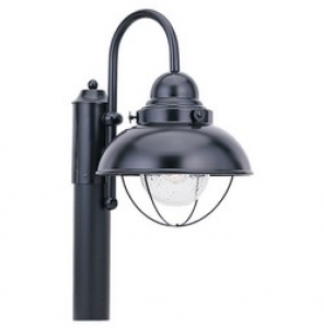 Sebring Outdoor Post Lantern Black Finish