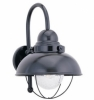 Sebring Outdoor Wall Lantern Black Finish