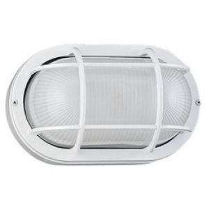 Nautical Outdoor Wall Lantern White Finish, Frosted Glass cage ...
