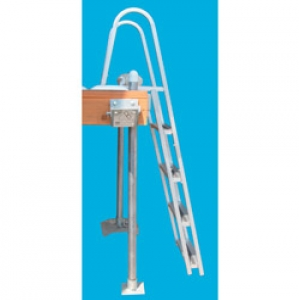 Dock Edge quik release Aluminum Stand-Off Ladder 4-Step
