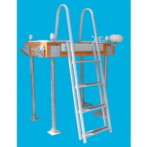 Dock Edge quik release Aluminum Stand-Off Ladder 3-Step Weave/Design