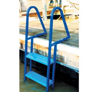 4 Step Galvanized Wide Step Ladder